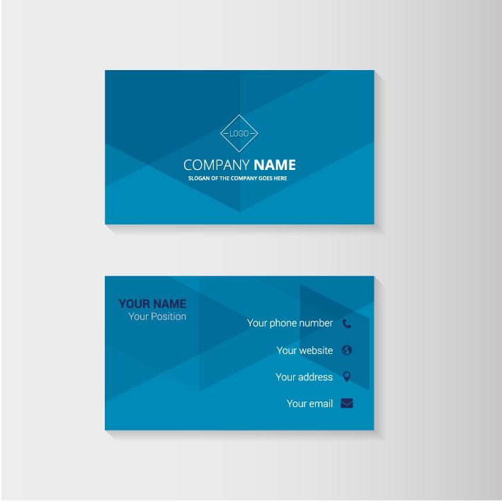 Job som grafiker, design et visitkort