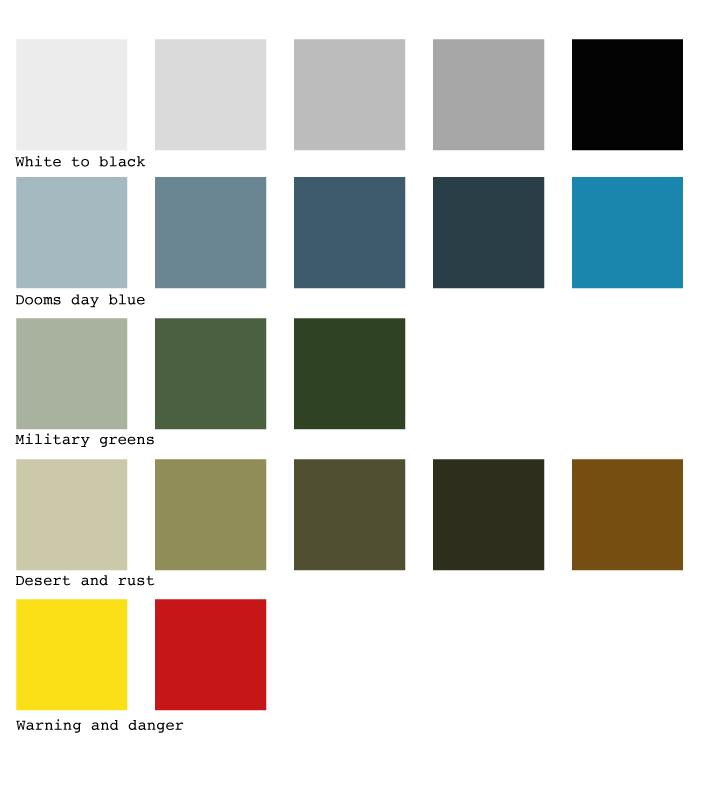 grunge farver